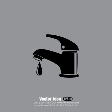 faucet icon with drop