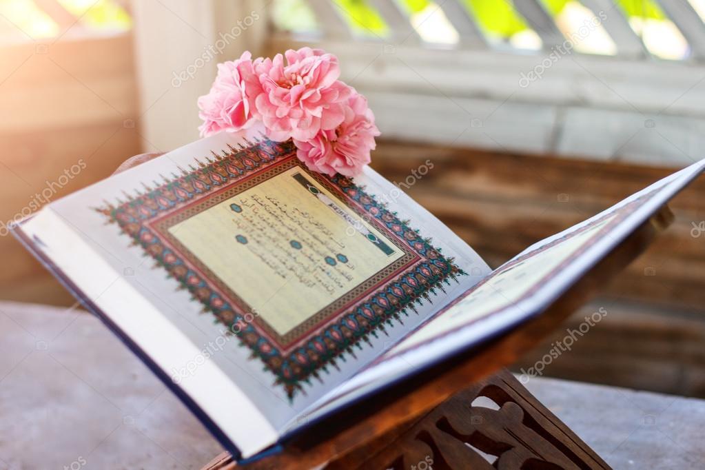 Quran And Rose Stock Photo C Aiscream 108116832