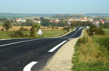 Road in North Lorraine, France