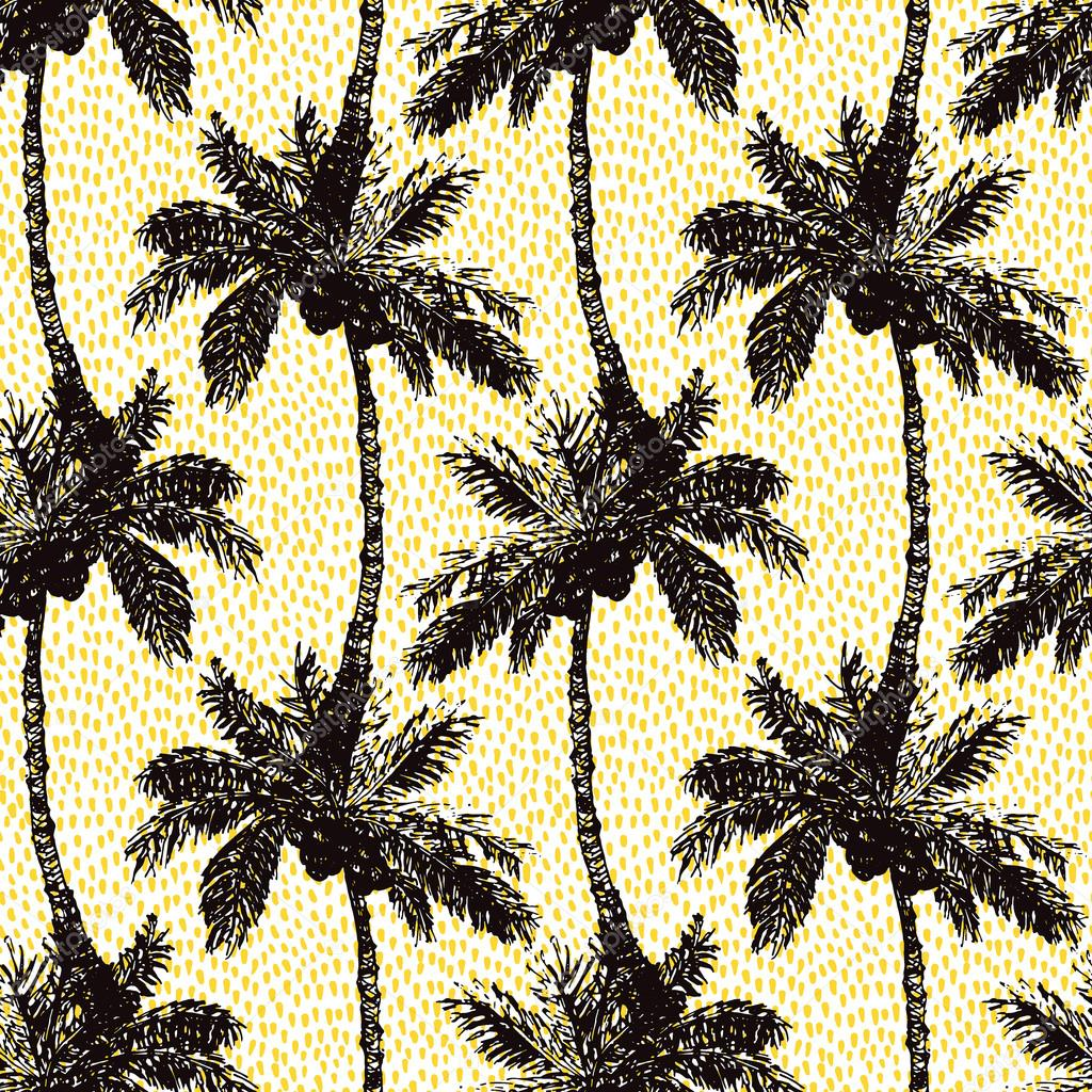 Palm Seamless Pattern A