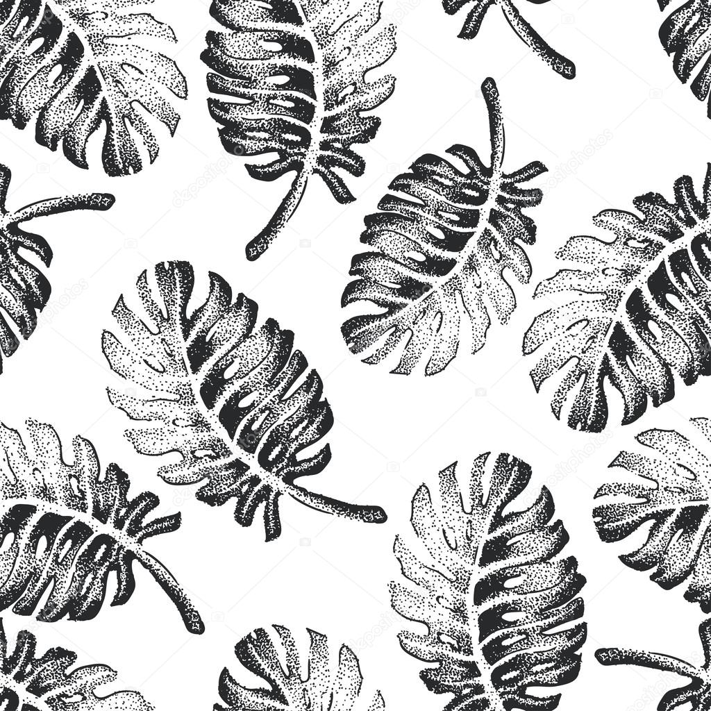 Palm Tree Sketch Pattern векторное изображение Katyr