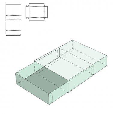 Box Die Line template