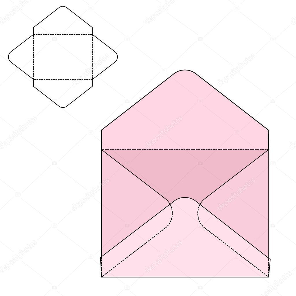 envelope fold template stock vector katyr 88716562