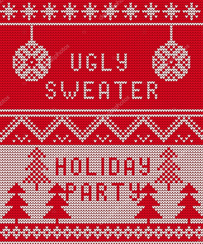 Ugly Christmas Sweater Background – Merry Christmas And ...