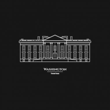 Washington United States White House Icon  1