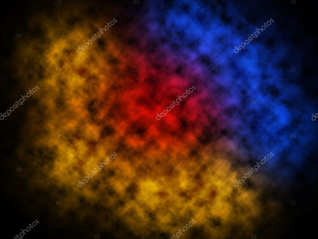 Smoke Texture Abstract Red Blue Yellow Background Stock