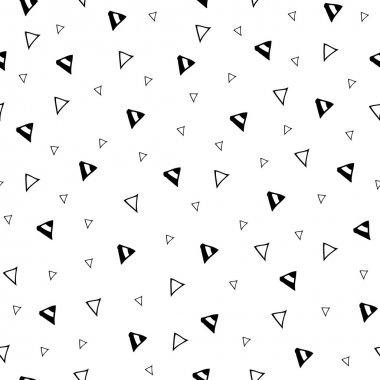 Hand drawn triangle geometric seamless pattern