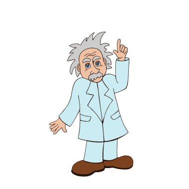 Einstein on a white background