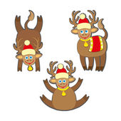 Fotografie Christmas reindeer vector illustration.