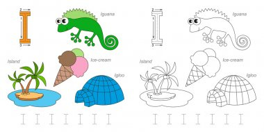 Pictures for letter I
