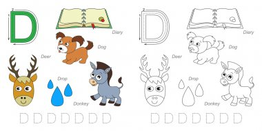 Pictures for letter D