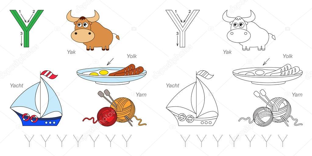 Bilder für den Buchstaben Y — Stockvektor © Anna_Mikhailova #100196416