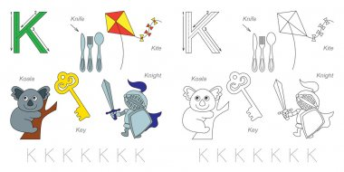 Pictures for letter K