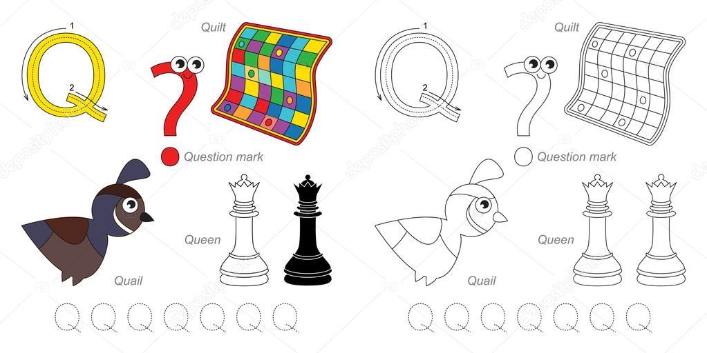 Bilder für den Buchstaben Q — Stockvektor © Anna_Mikhailova #100200136