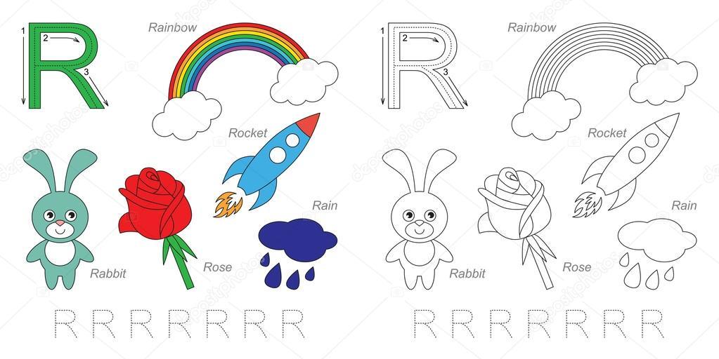 Imágenes Con La Letra R Para Niños Cuadros Para La Letra R