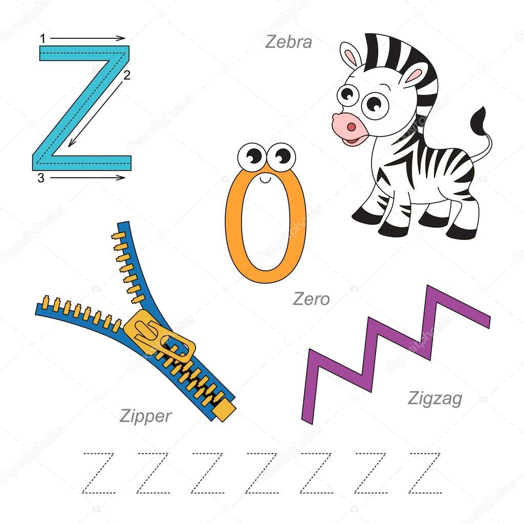 Bilder für den Buchstaben Z — Stockvektor © Anna_Mikhailova #100242882