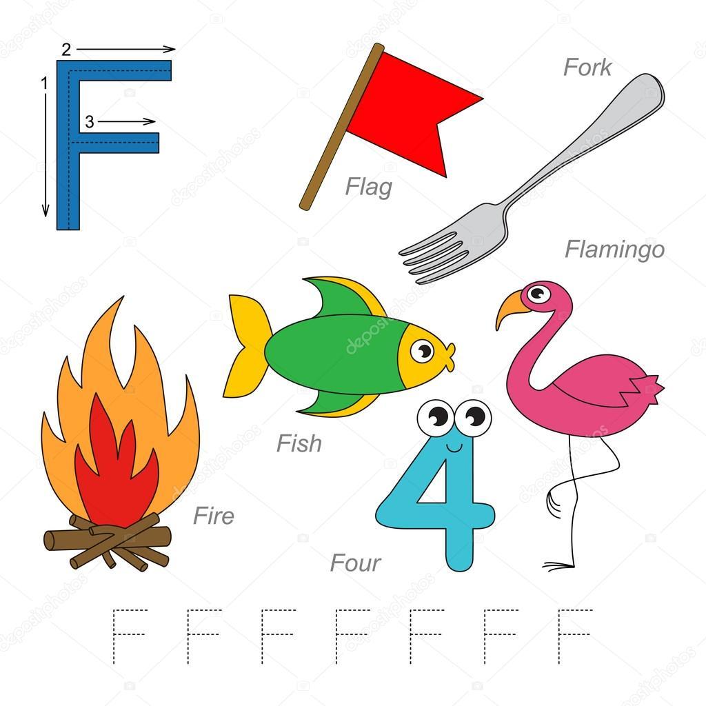 Bilder für den Buchstaben F — Stockvektor © Anna_Mikhailova #100243154