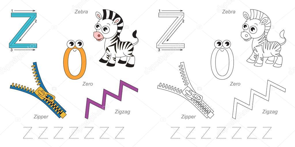 Bilder für den Buchstaben Z — Stockvektor © Anna_Mikhailova #100258262