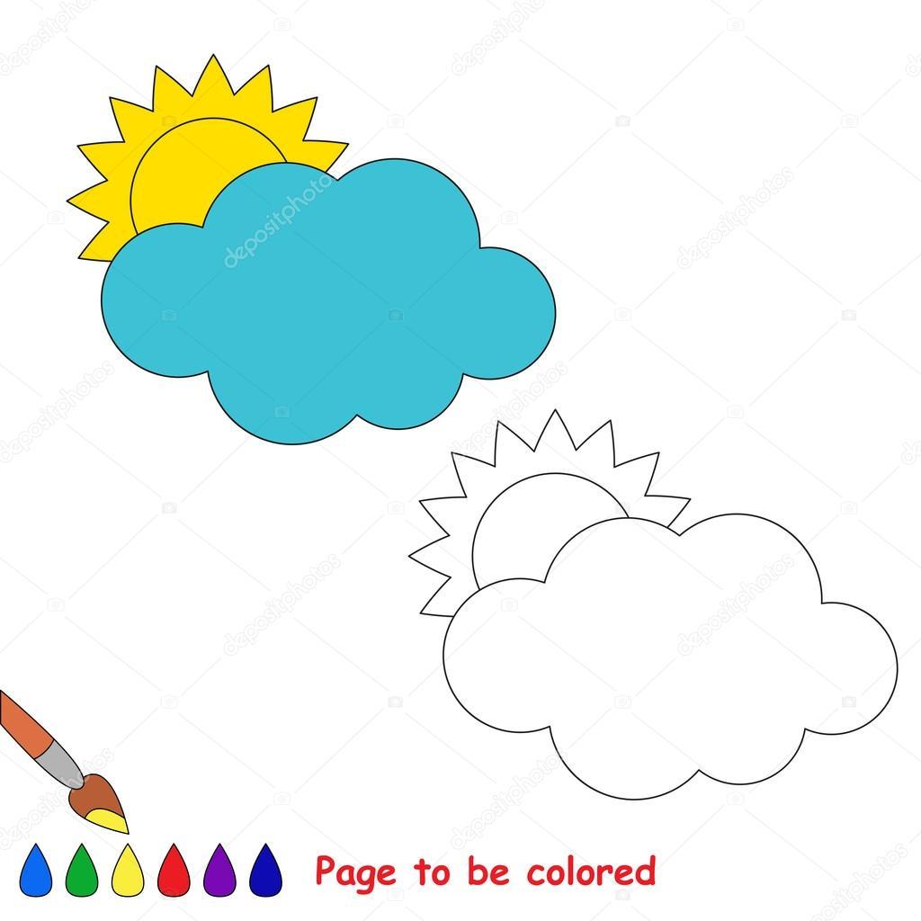 Imágenes Nubes Colorear Dibujos Animados De Nubes Página Para