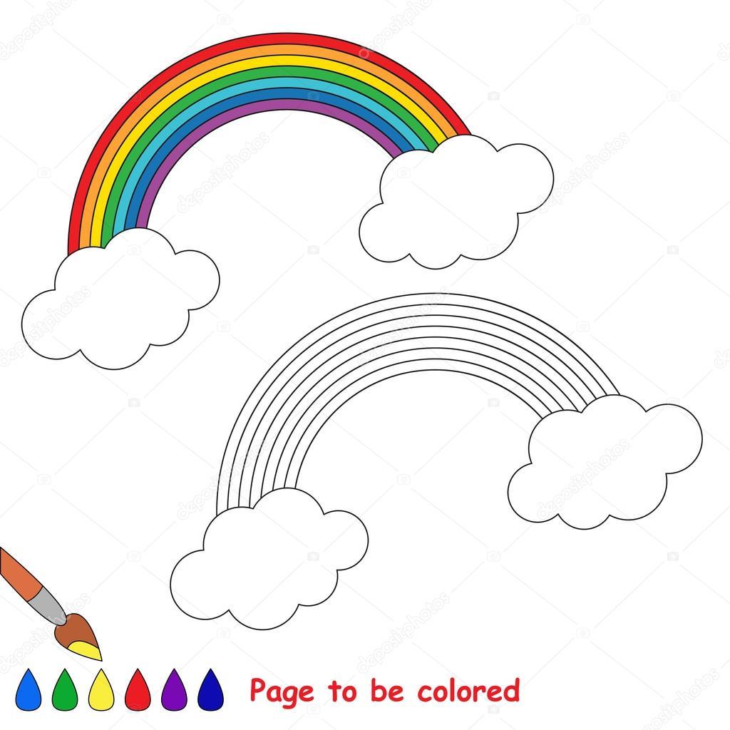 Gökkuşağı Karikatür Renkli Sayfa Stok Vektör Annamikhailova
