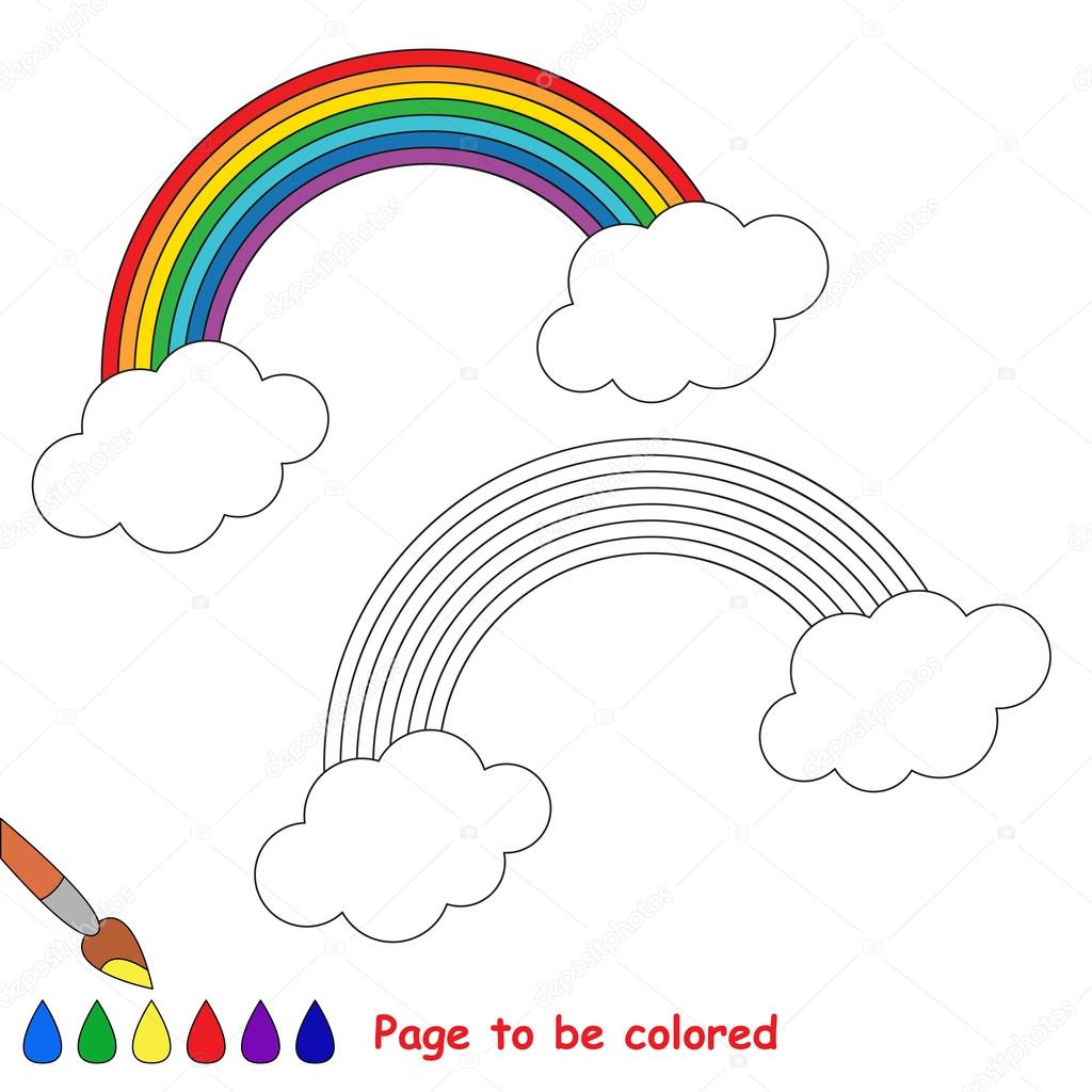 Dibujos animados de arco iris p gina para colorear - Arcobaleno da colorare stampabili ...