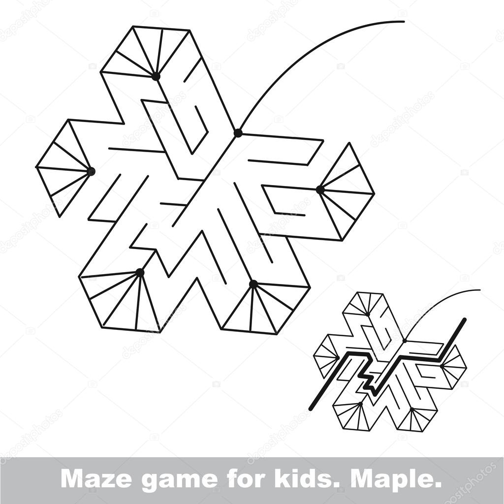 Suchen Sie den Weg. Herbst-Kinder-Labyrinth-Spiel — Stockvektor ...