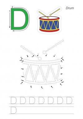 Numbers game for letter D