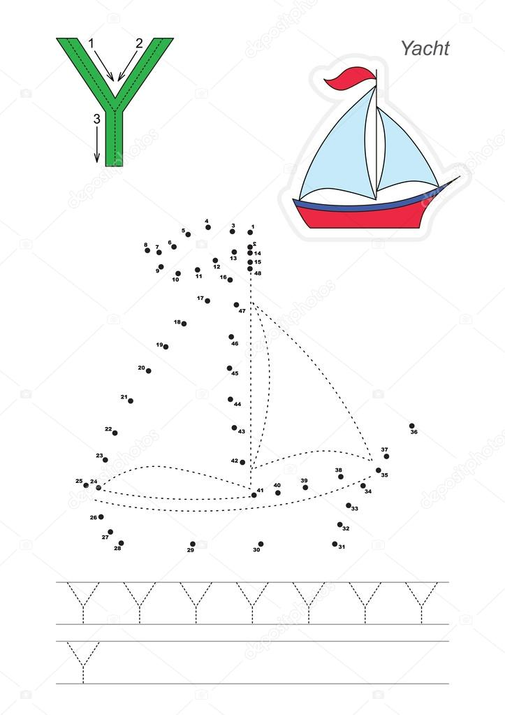 Zahlenspiel für Buchstabe Y — Stockvektor © Anna_Mikhailova #103833936