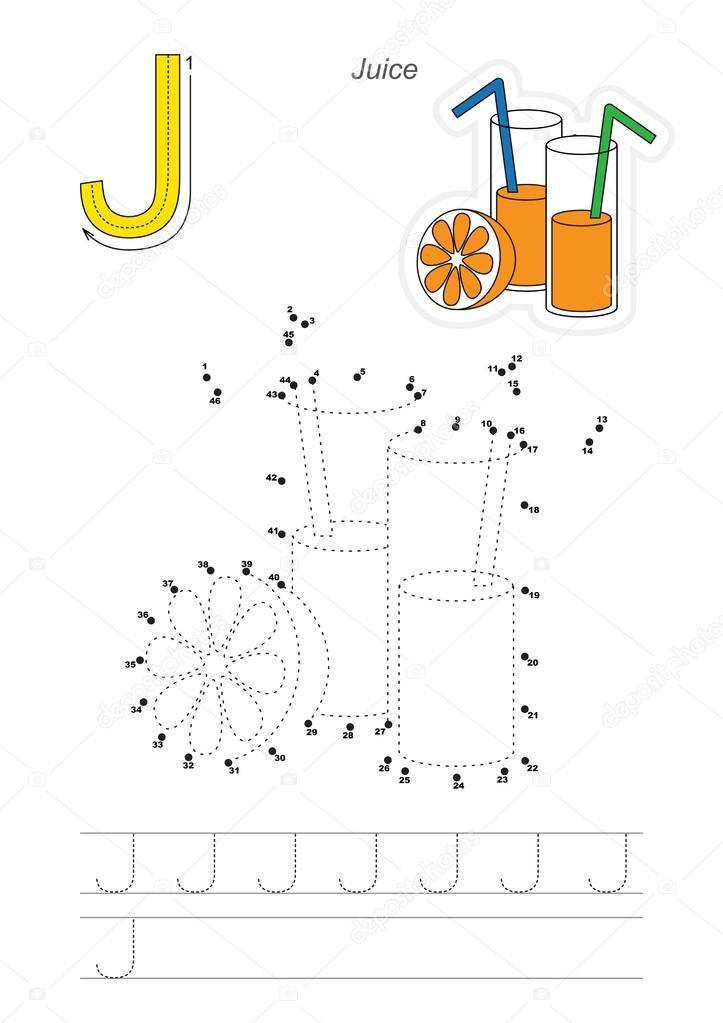 Zahlenspiel zum Buchstaben J — Stockvektor © Anna_Mikhailova #103835724