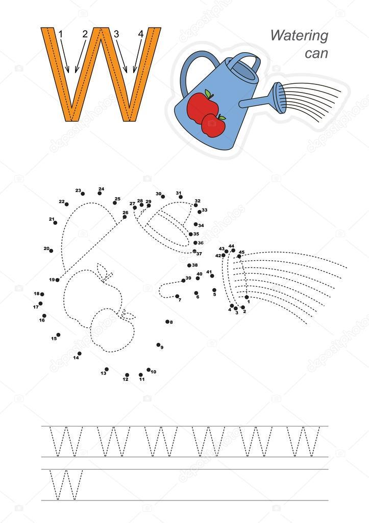 Zahlenspiel für Buchstabe W — Stockvektor © Anna_Mikhailova #103837994