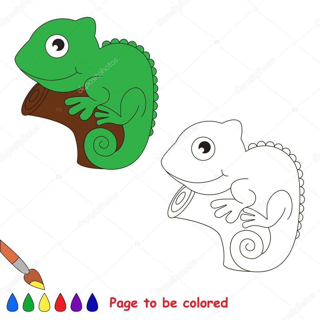 Iguana cartoon. Page to be colored. — Stock Vector © Anna_Mikhailova ...
