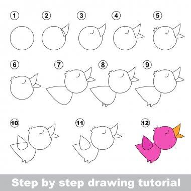 Nightingale. Drawing tutorial.