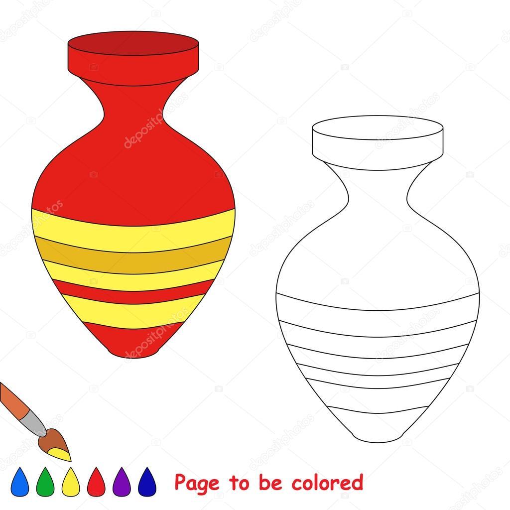 Dibujos Animados De Florero Página Para Colorear Archivo Imágenes