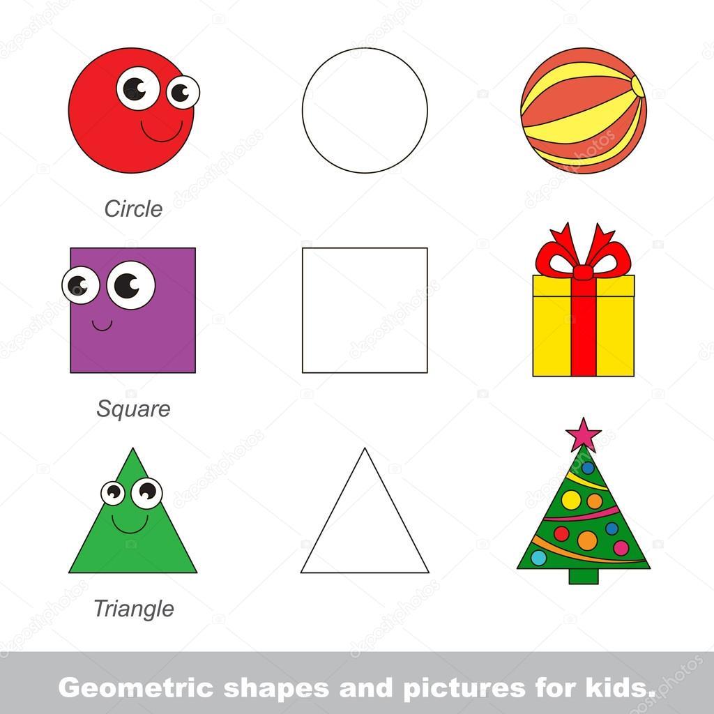 картинки для дітей геометричні фігури
