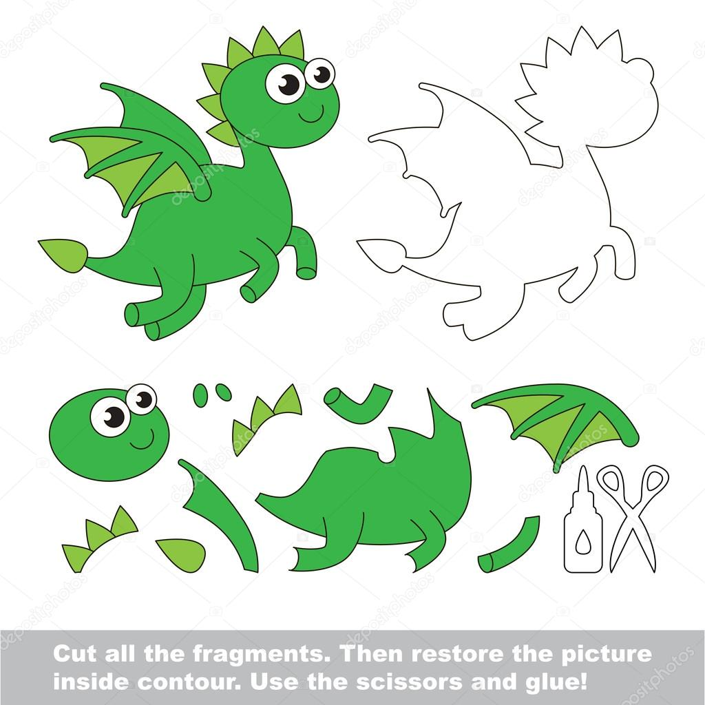 Animado Dragon Facil Juego De Ninos De Papel Facil Aplicacion