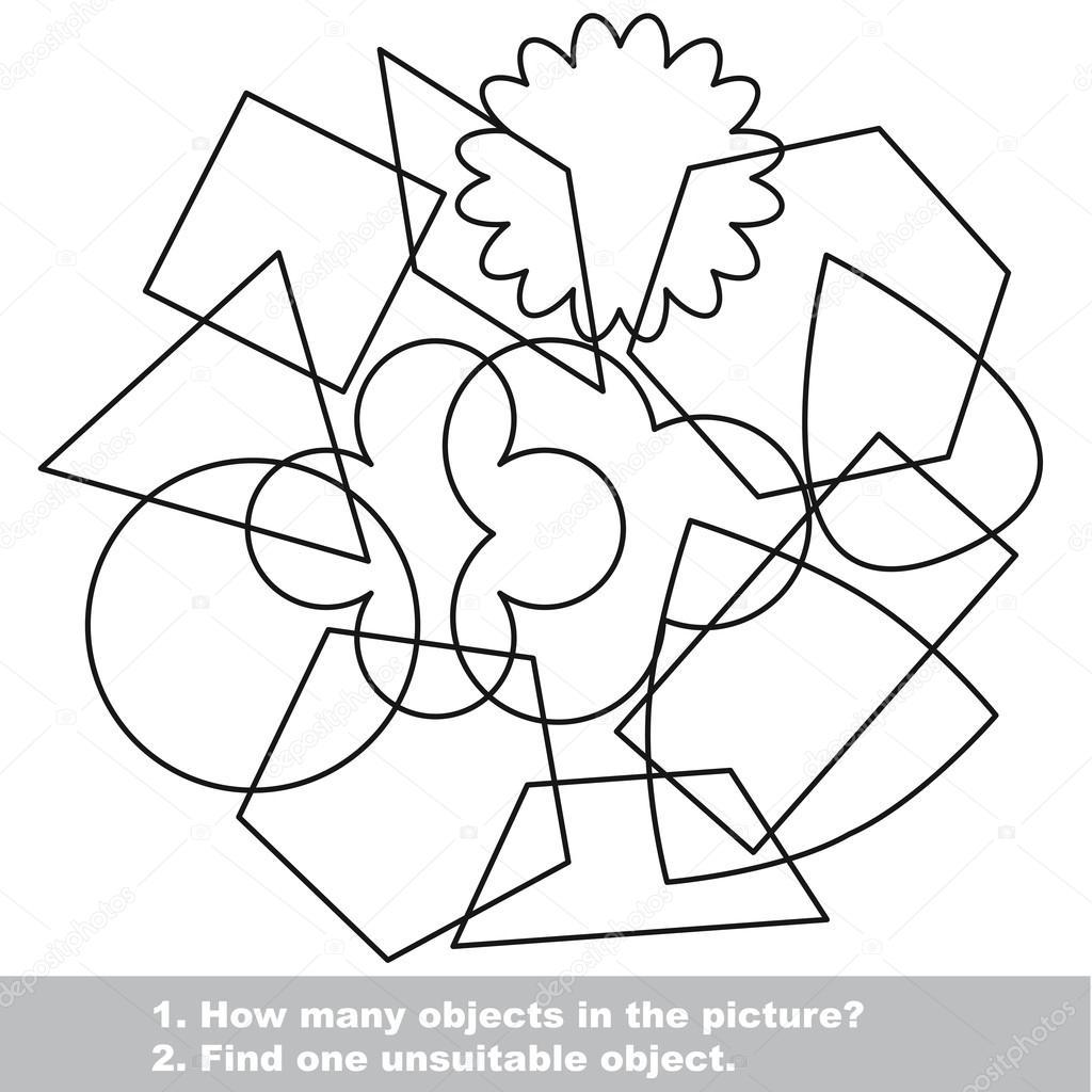 Mezcolanza de formas geométricas simples en vector — Archivo ...