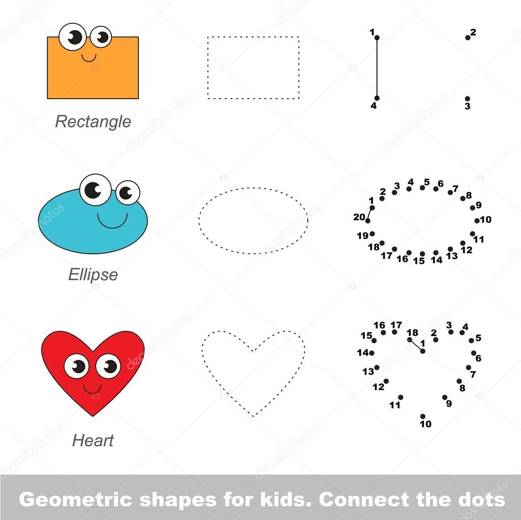 Formas geométricas simples para niños — Archivo Imágenes Vectoriales ...