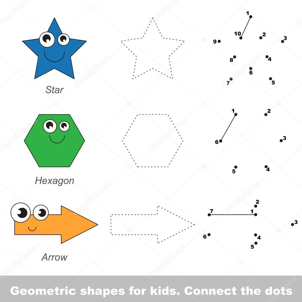 Formas geométricas simples para niños — Vector de stock ...