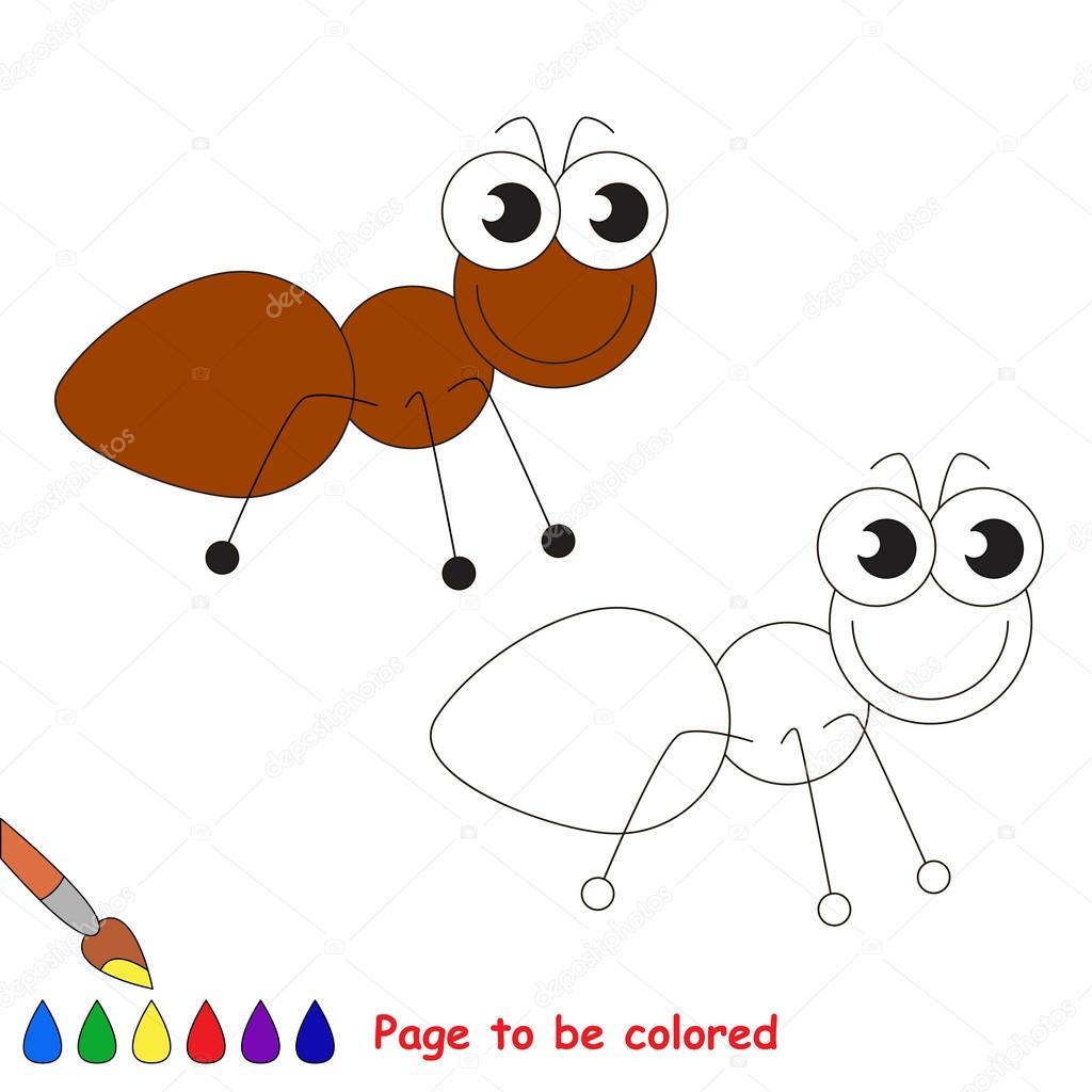 Süße Ameise Cartoon. Seite, farbig — Stockvektor © Anna_Mikhailova ...