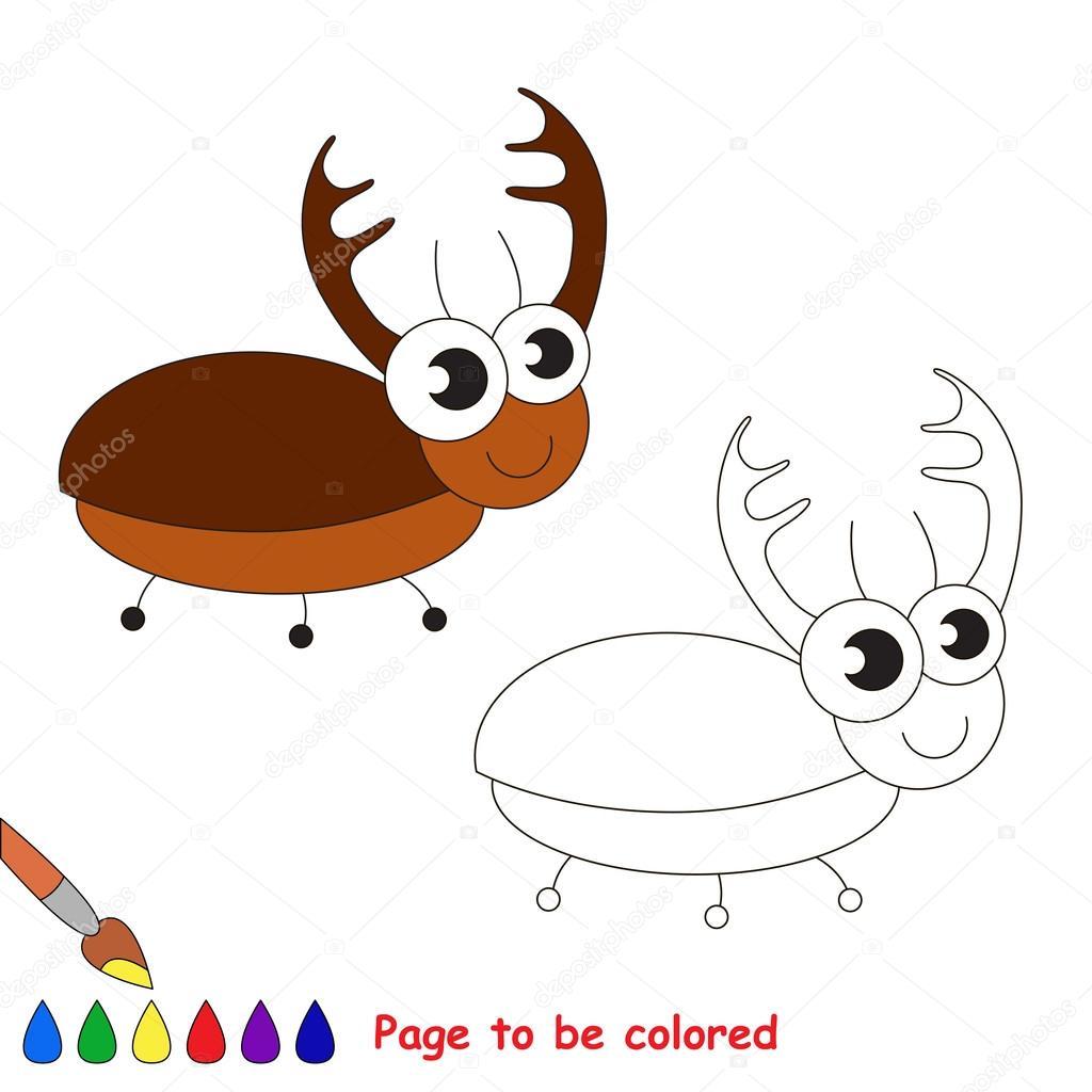 Dibujos animados de escarabajo. Página para colorear — Archivo ...