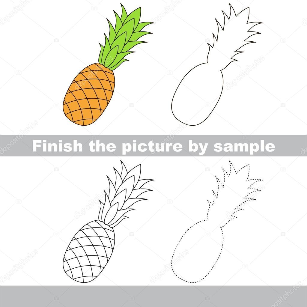 Ananas. Zeichnung-Arbeitsblatt — Stockvektor © Anna_Mikhailova ...