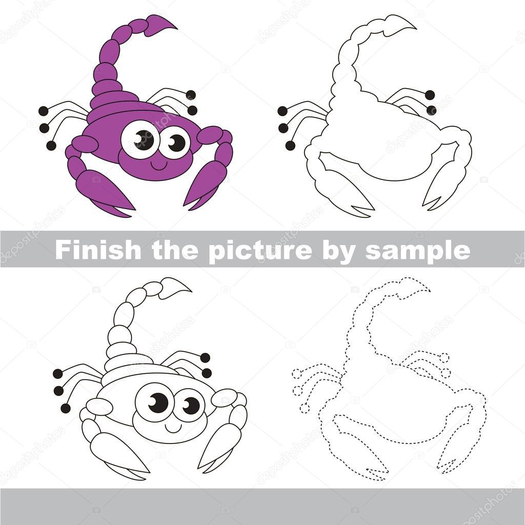 Dessin D Un Scorpion le scorpion. feuille de dessin simple — image vectorielle