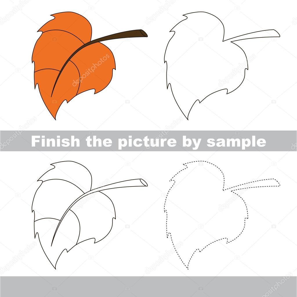 Herbst-Blatt. Zeichnung-Arbeitsblatt — Stockvektor © Anna_Mikhailova ...