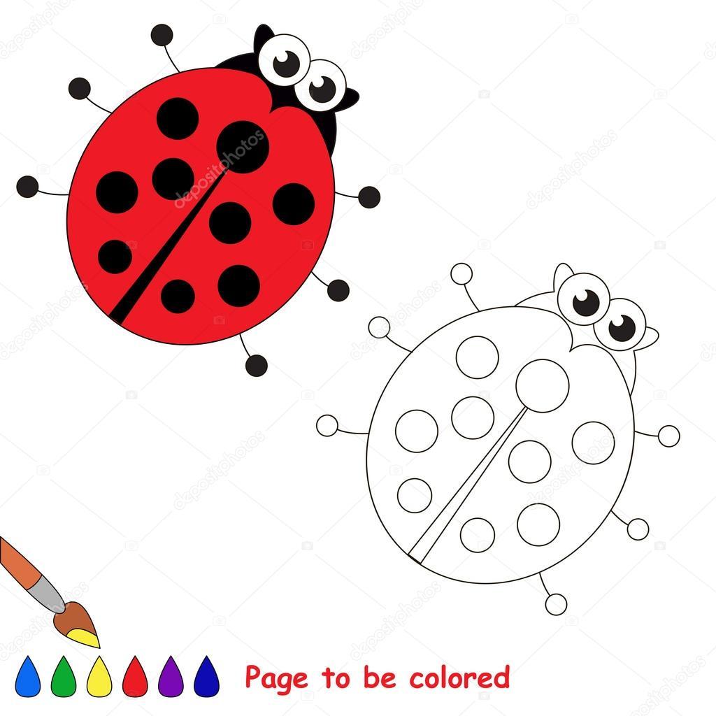 Dibujos Animados De Mariquita Página Para Colorear Archivo