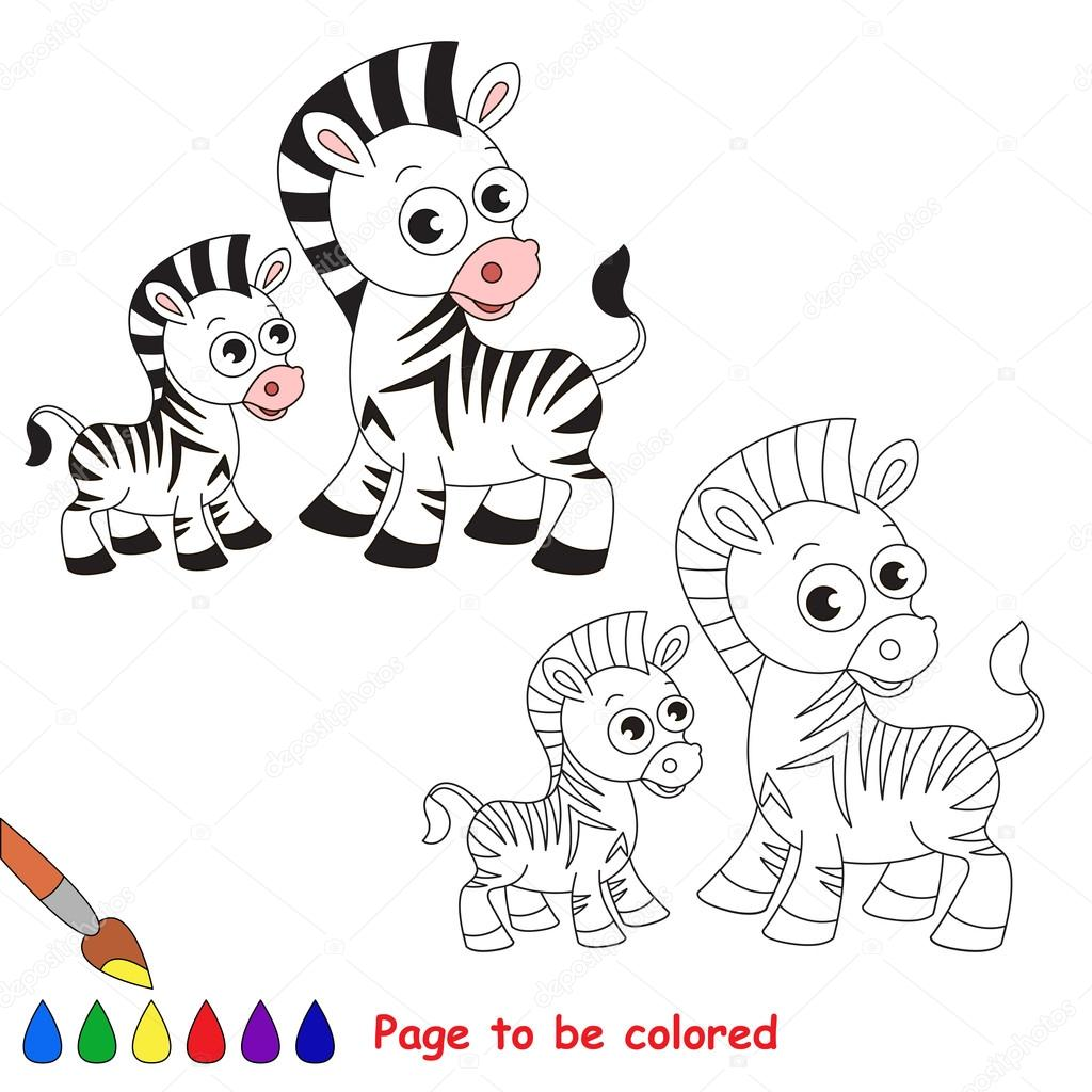 depositphotos stock illustration zebra and her baby cartoon
