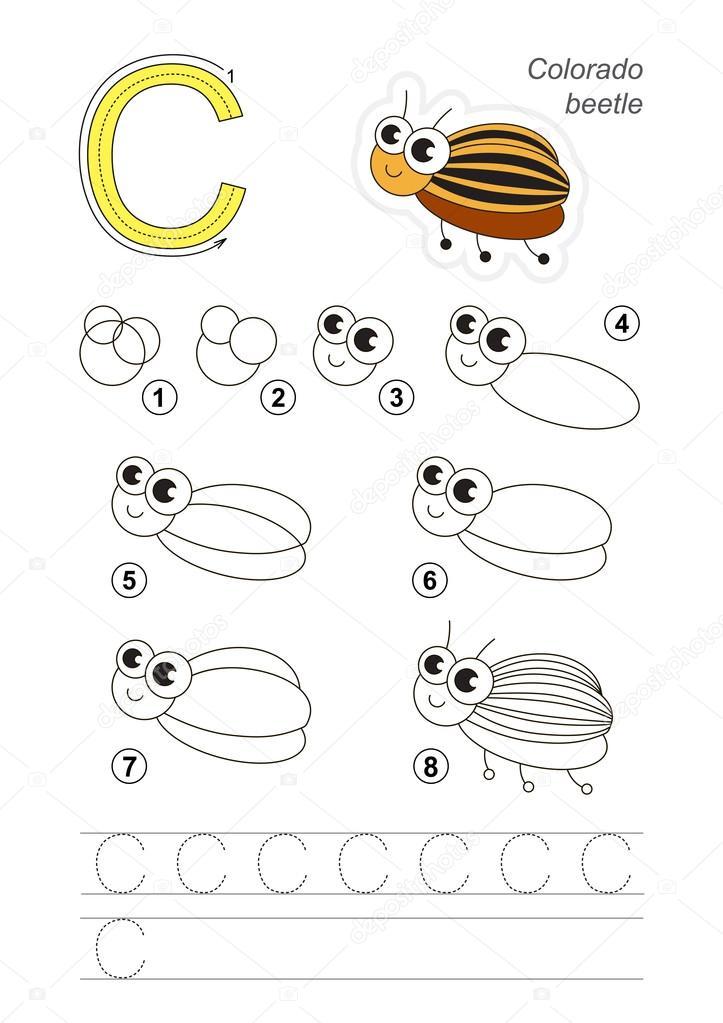 Tutorial De Dibujo Juego De Carta C Escarabajo De Patata