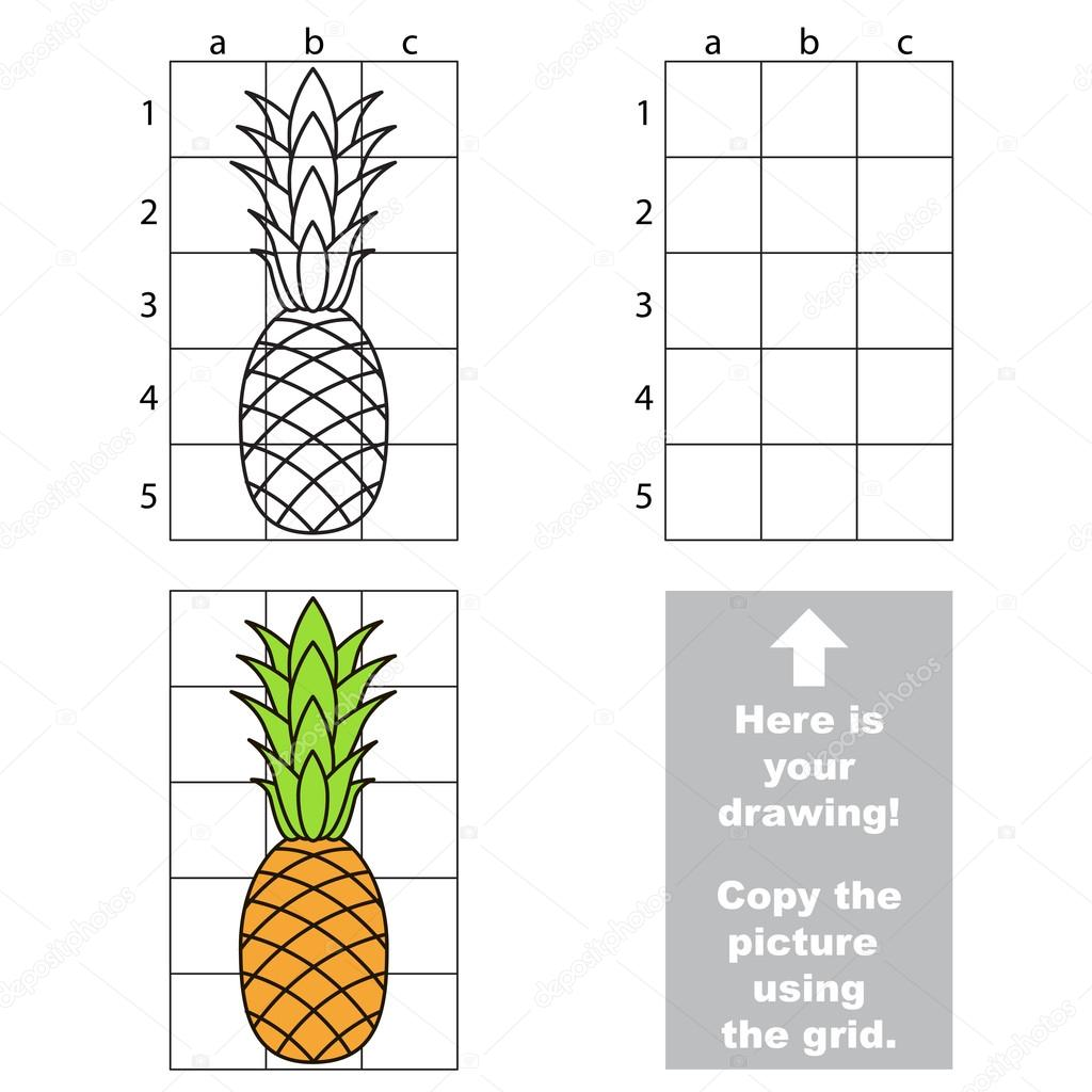 Copiez L Image à L Aide De La Grille Ananas Image