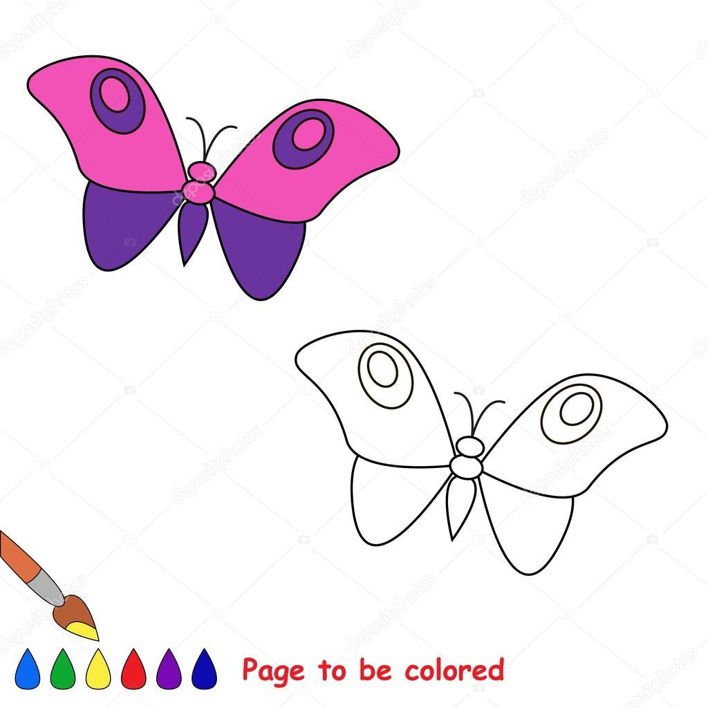 Mariposa de la historieta para colorear — Archivo Imágenes ...