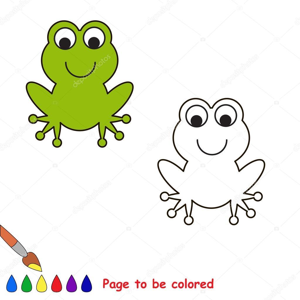 Rana de dibujos animados para colorear — Vector de stock ...