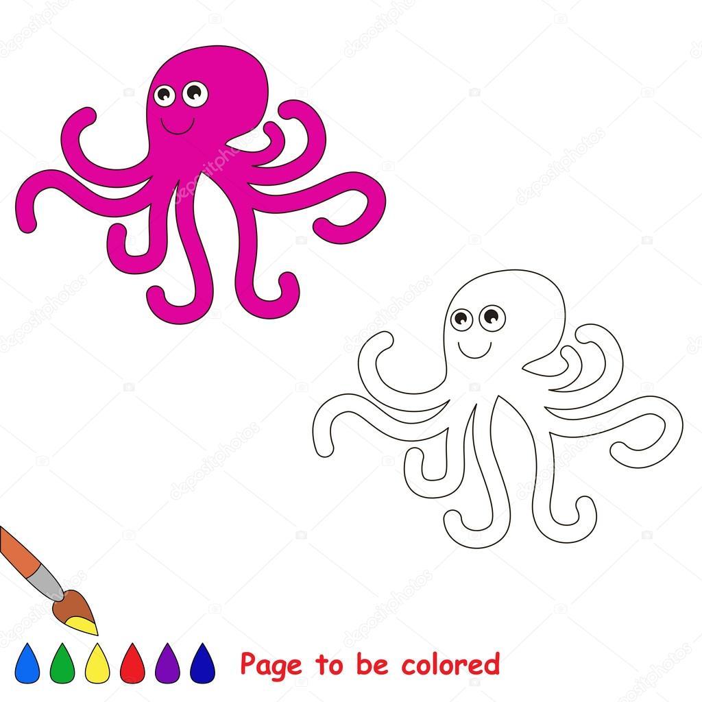 Pulpo De Dibujos Animados Para Colorear Archivo Imágenes